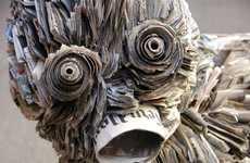 Detailed Newspaper Sculptures