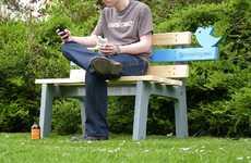 Twitterific Park Benches