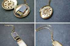 Delicate Flash Drive Necklaces