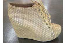 Basket-Weaved Footwear