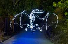 Prehistoric Creatures Light Photography
