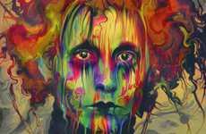 Rainbow-Hued Pop Portraits