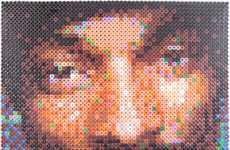 Plastic Perler Celebrity Portraits
