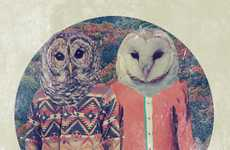Stylishly Dressed Animal Depictions