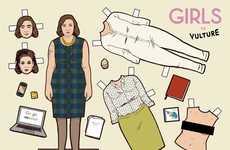 HBO Girls Paper Dolls