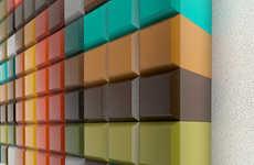 Wooden Pixelated Wall Art