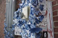 Butterfly-Bombed Street Art