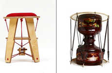 Drum-Inspired Seating