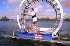 Floating Human Hamster Wheels