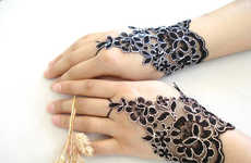Exquisite Blossom-Inspired Gloves