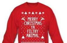 Rude Christmas Greeting Shirts
