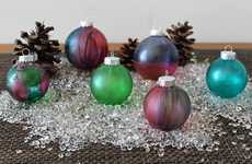 DIY Tie-Dyed Ornaments