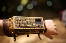 Steampunk Keyboard Cuffs