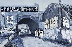 Denim Cityscape Art