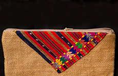 Fair Trade Zipper Clutches