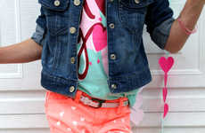 Hand-Painted Heart Pants