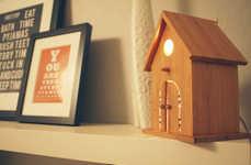 Bamboo Birdhouse Lamps