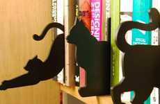 Feline Wooden Book Dividers