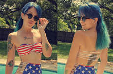Stars-and-Stripes Swimsuits