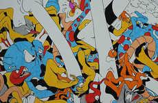 Vibrantly Cartoonish Street Art