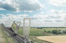 Surreal Giant Zipper Photos