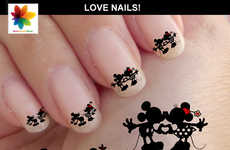 Romantic Disney Nails