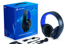 Wireless Gold Gaming Headsets
