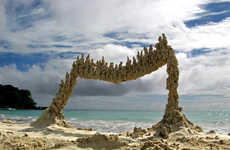 24 Beach Art Installations