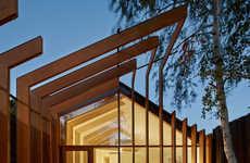 Wooden Cross-Stitch Homes