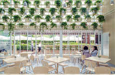 Airy Greenhouse Cafes