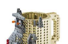 Metallic Building Block Mugs