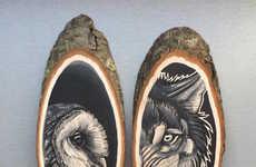 Wildlife Log Portraits