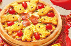 Fish Stick-Topped Pizzas