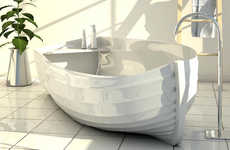 Canoe-Shaped Bathtubs