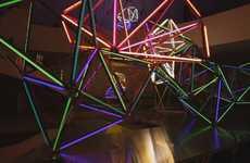 Luminescent Web Sculptures