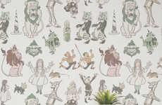 Wonderland-Themed Wallpaper Murals