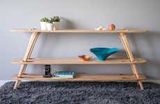 Hardware-Free Wooden Shelves