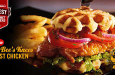 Spicy Waffle-Topped Sandwiches