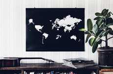 Peel-Off World Travel Maps