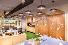 Jungle-Themed Offices