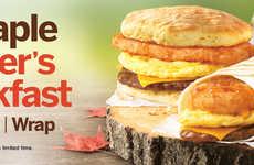 Maple-Flavored Breakfast Wraps