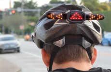 Cyclist Helmet Turn Signals