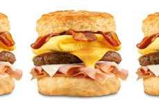 Triple-Meat Breakfast Sandwiches