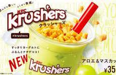 Crumble-Topped Yogurt Drinks
