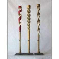 Carved Baseball Bats