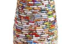 Recycled Magazine Vases