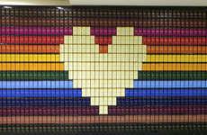 Chocolate Bar Mosaics