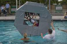 Giant Floating Hamster Wheels
