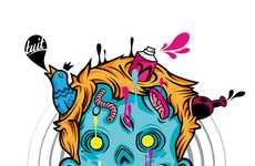 Creepy Technicolor Drawings