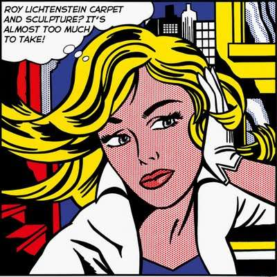Pop Art Carpeting-Roy Lichtenstein